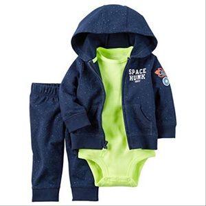 Baby Boy's 3 Piece Winter Hoodie/Jogger Set